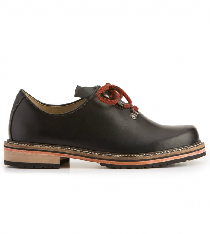 Traditional shoe 6082 black nappa