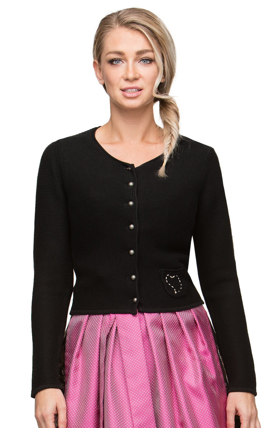 Traditional Cardigan Rosali black von Stockerpoint