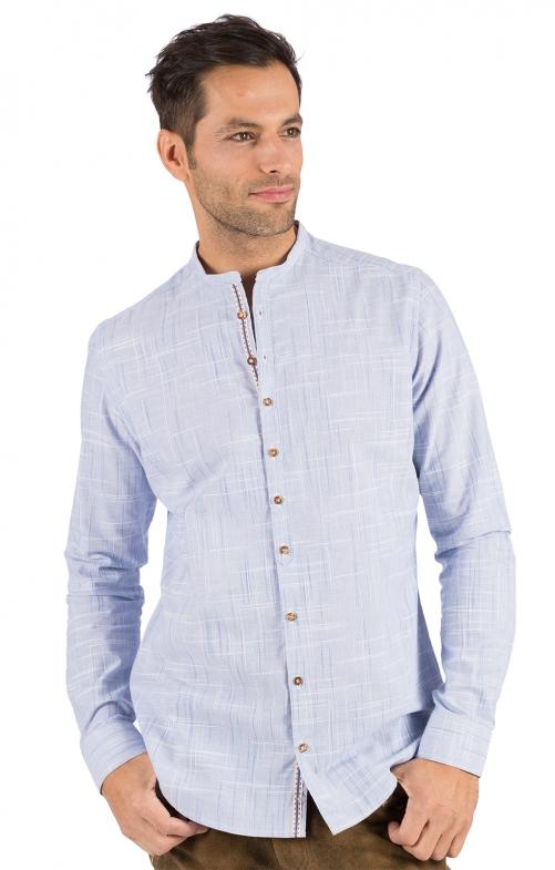 German traditional shirt HEIKO light blue