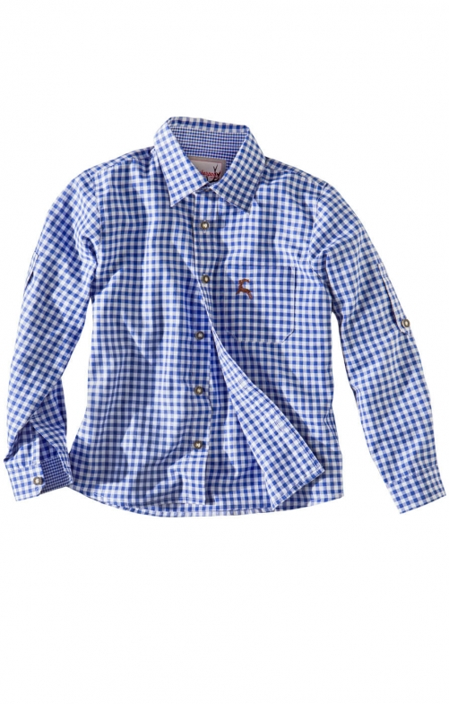 Children traditional shirt Bob blue
