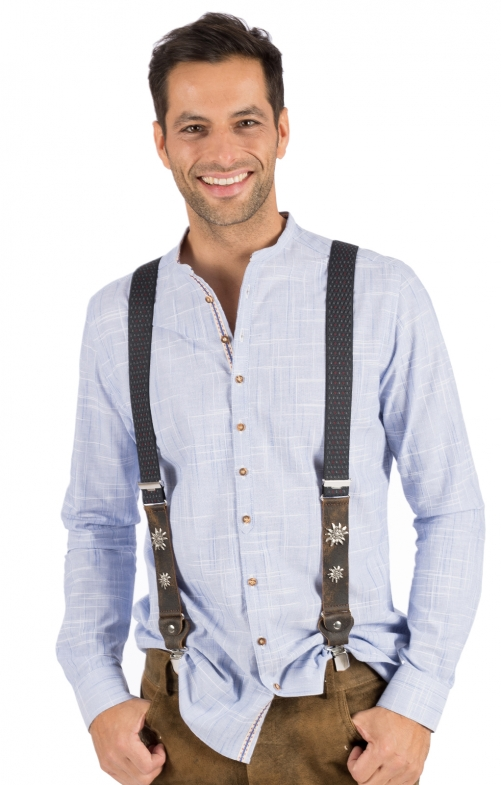 Traditional suspenders HT906-4 gray