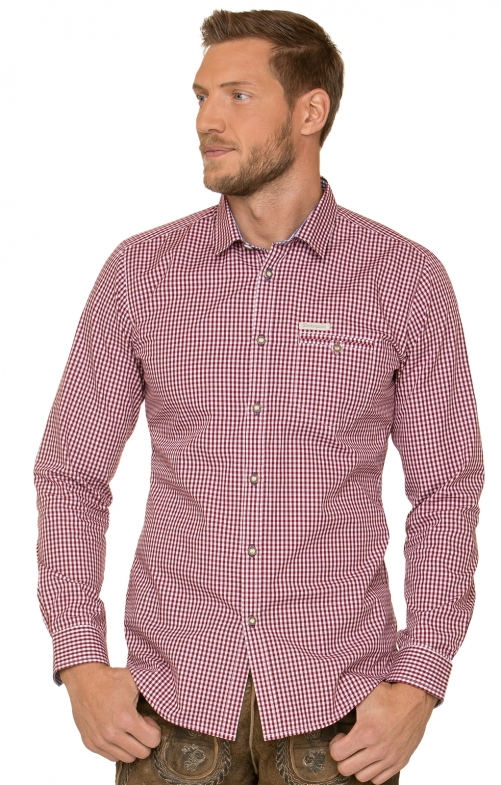 German traditional shirt DAVE4 red