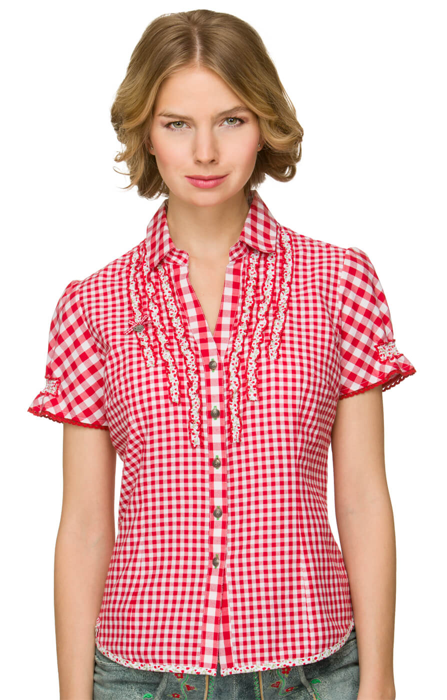 Traditional blouse Lily red von Stockerpoint