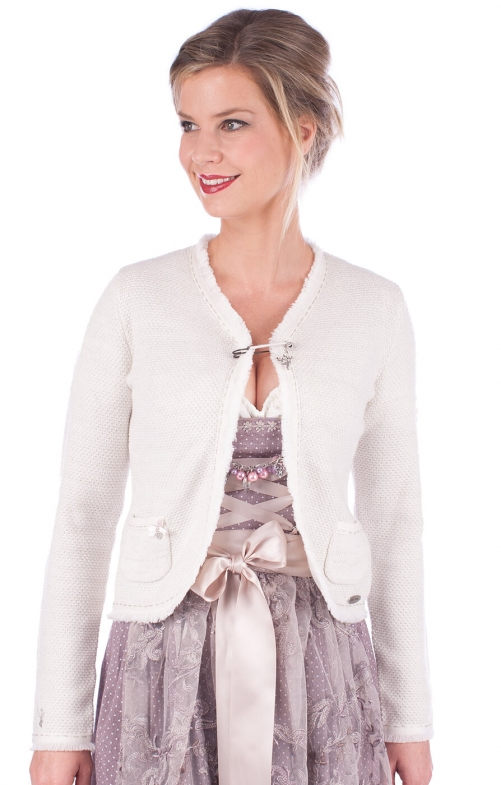 Traditional Cardigan ERLE white