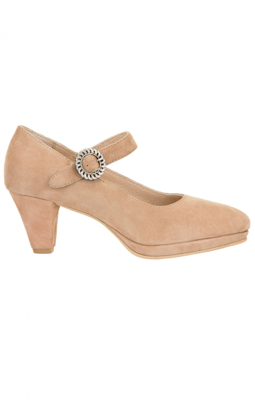 Traditional dirndl shoes 6006 sand