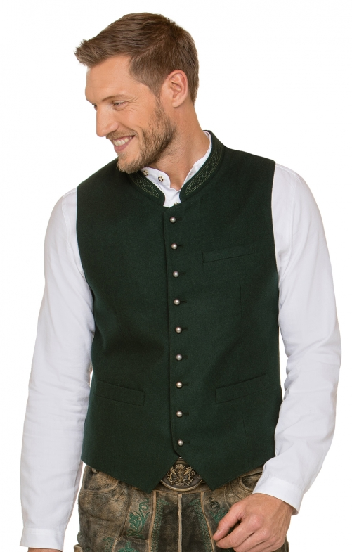 Traditional waistcoat LEVON forest
