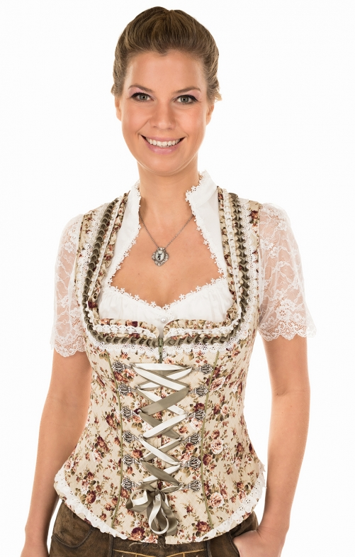 Traditional dirndl corsage CREAMY nature