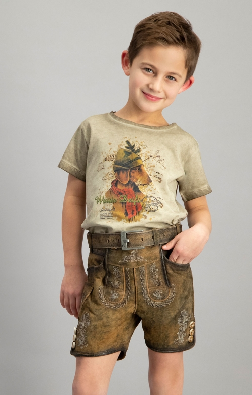 Children leather pants MORITZ hanf