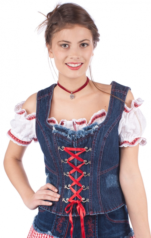 Traditional dirndl corsage 33545-82 blue