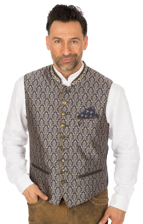 Traditional waistcoat JANKO blue