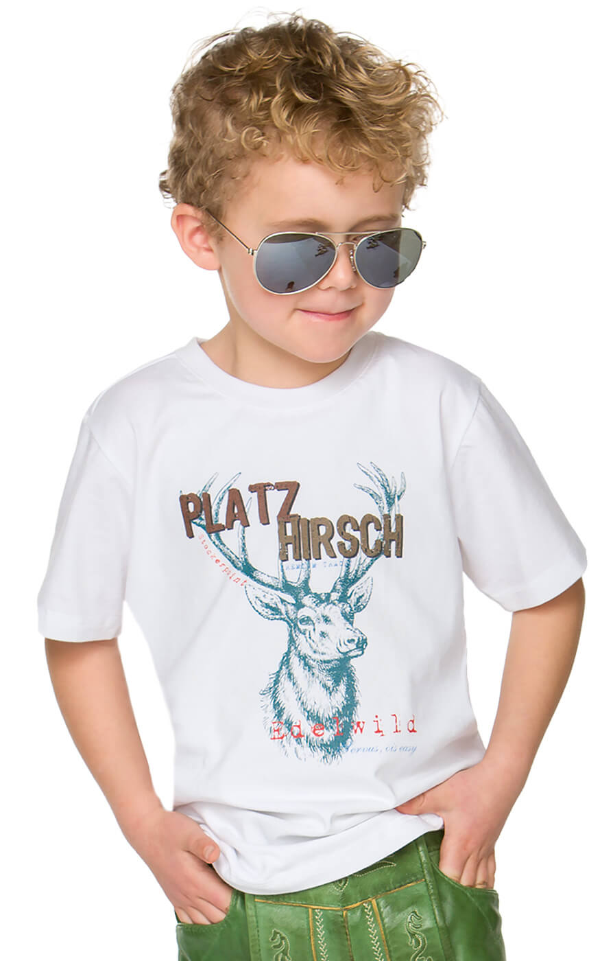 Children traditional t-shirt Hansi white von Stockerpoint