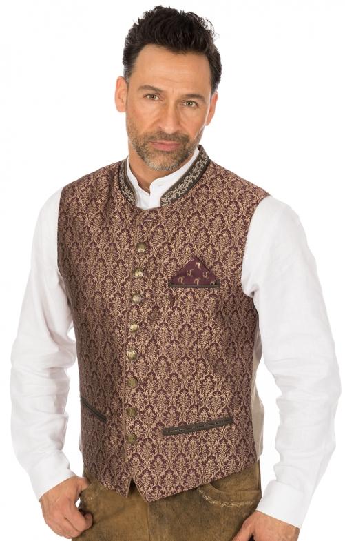 Traditional waistcoat JANKO bordeaux