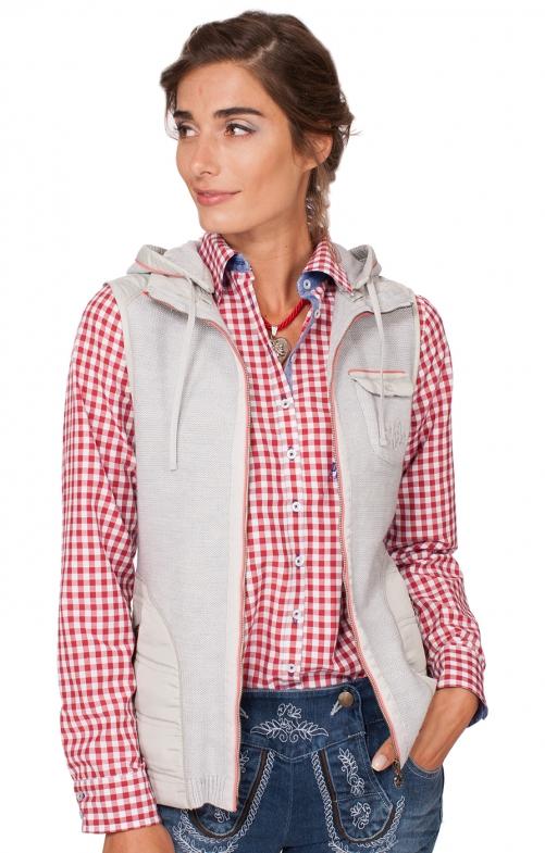 Traditional waistcoat Flintbeck gray koralle