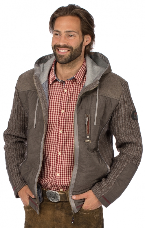 Traditional jacket HARTMUT medium brown