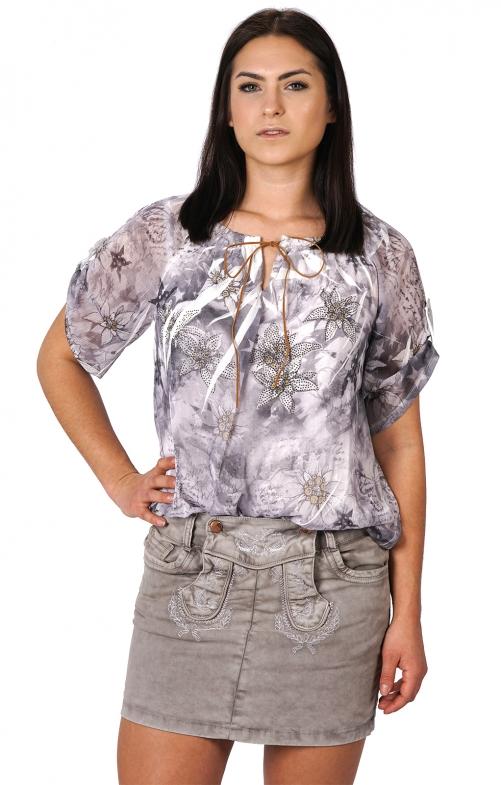 Traditional skirt Floretta gray