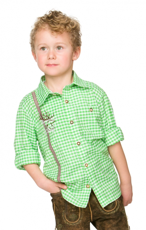 Children traditional shirt LEO apple