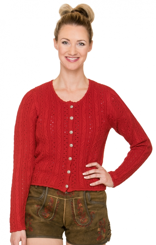 Traditional Cardigan LIZ red
