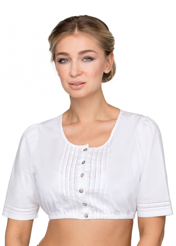 Traditional dirndl blouse B7084 white