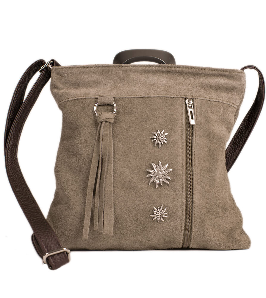 Traditional dirndl bag TA30300-3, gray brown von Schuhmacher