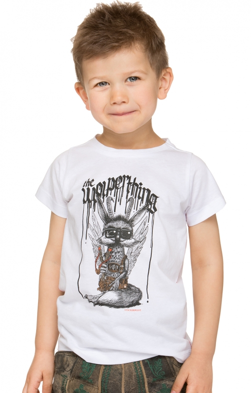 Children traditional shirt WOLPIBOY white