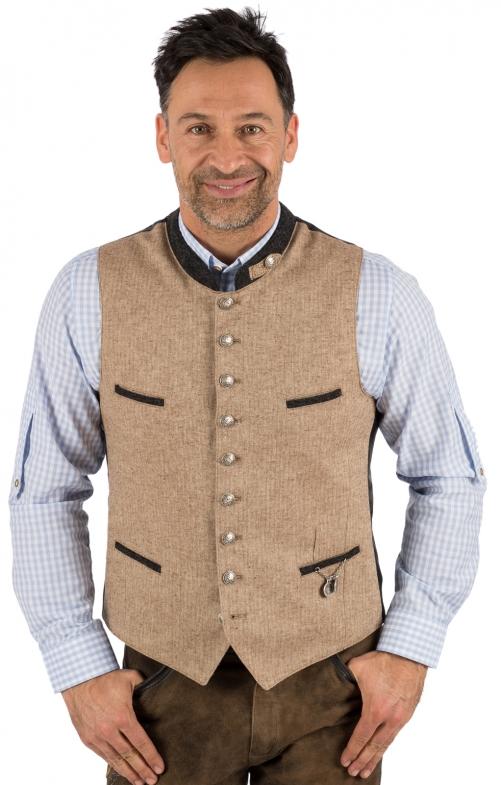 Traditional waistcoat 423000-3422-66 beige