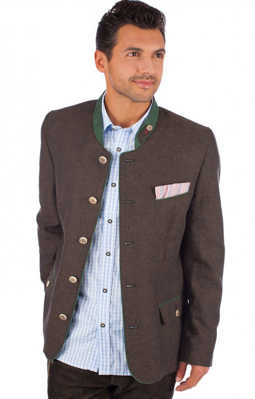 German traditional jacket WALDHORN brown