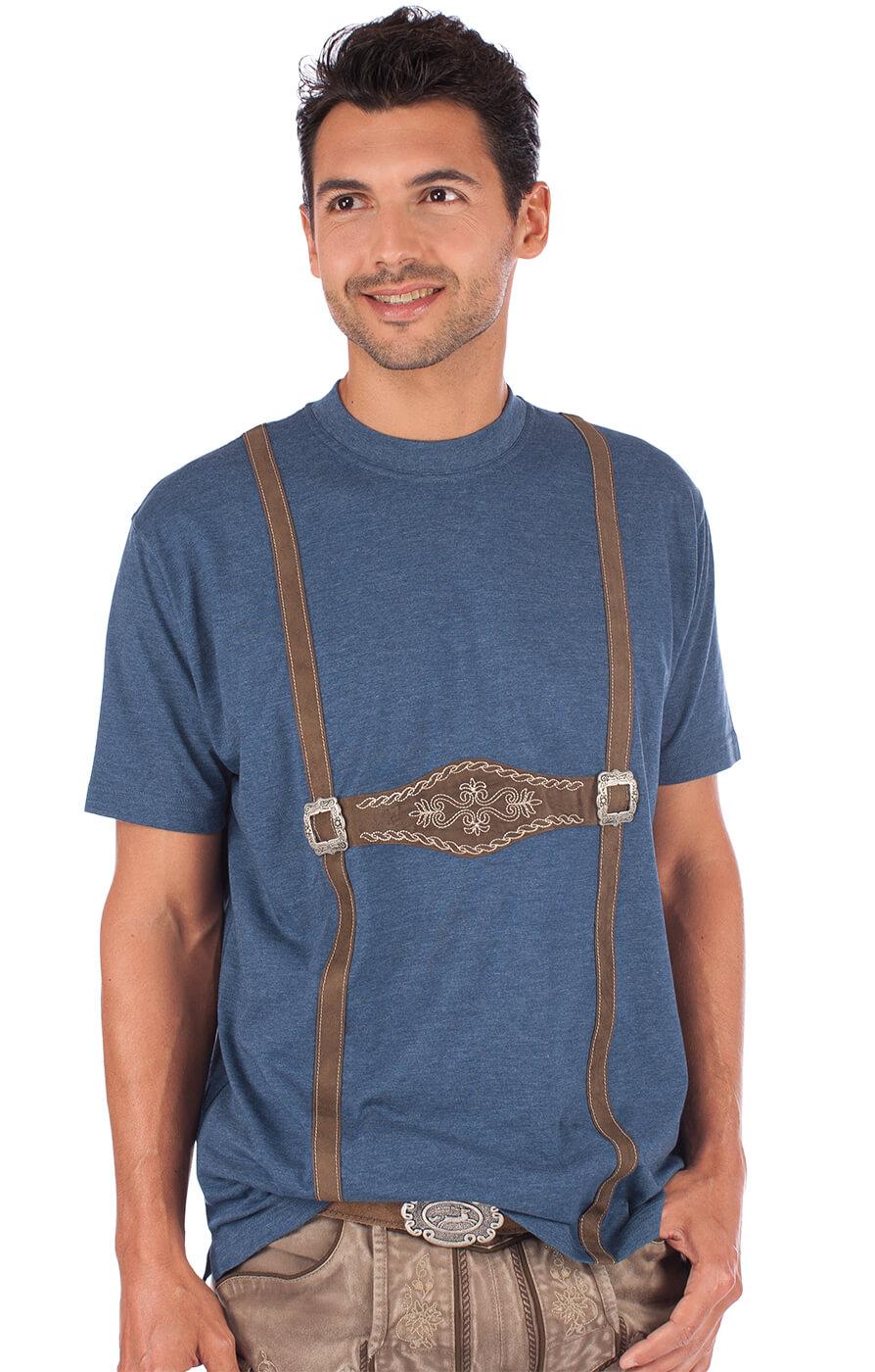 Traditional German T-Shirt 928001-3460-42 blue von OS-Trachten