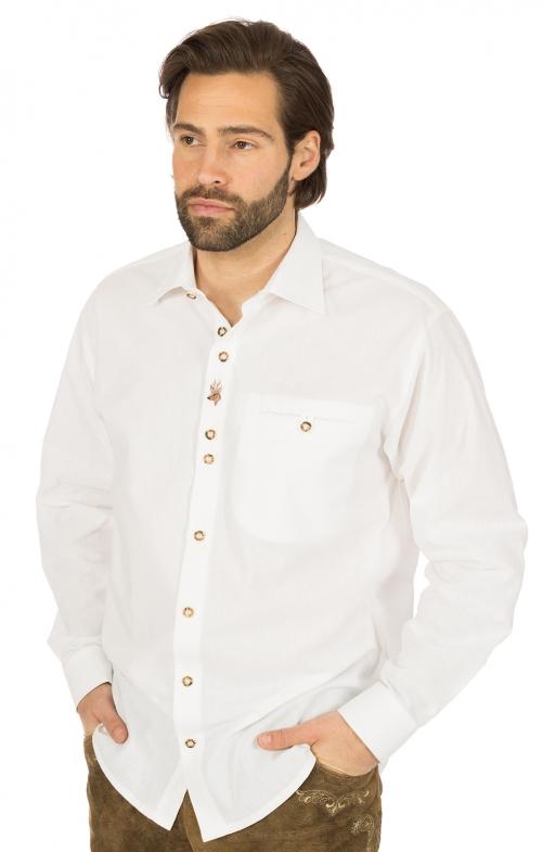 Trachtenhemd weiss