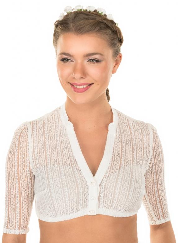 Traditional dirndl blouse EMMA-LINDA off-white