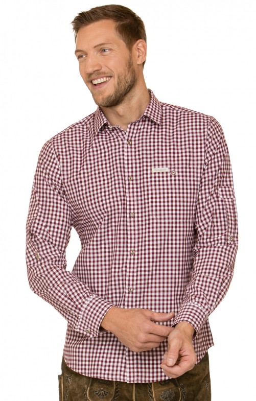 German traditional shirt CAMPOS3 bordeaux