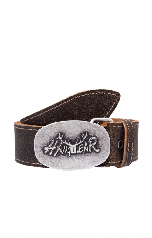 Traditional leather belt 70926 brown