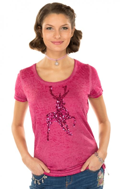 Trachten Shirt K20-ELLA berry