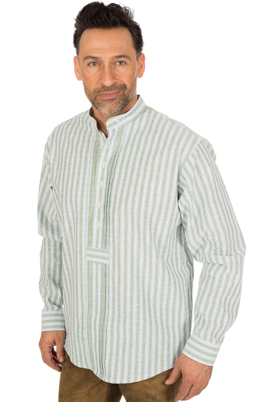 German traditional shirt Pfoad green von OS-Trachten