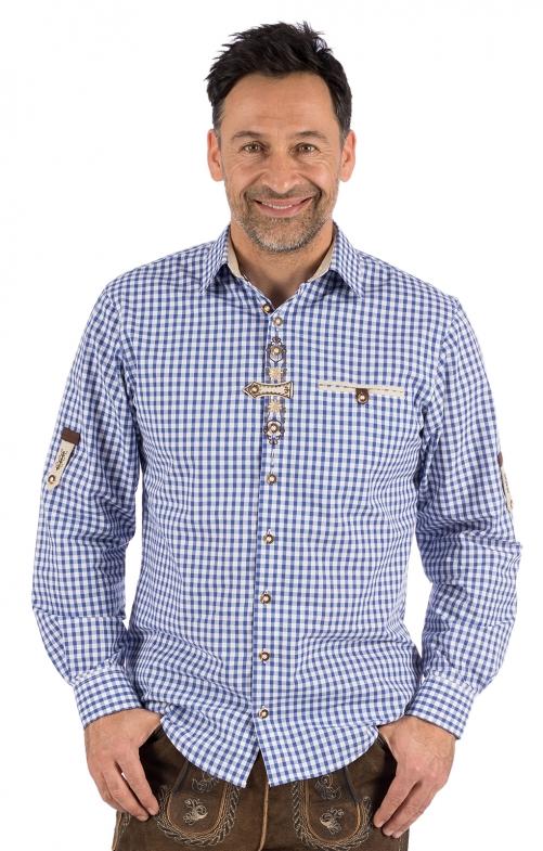 German traditional shirt long sleeve DACHSTEIN blue