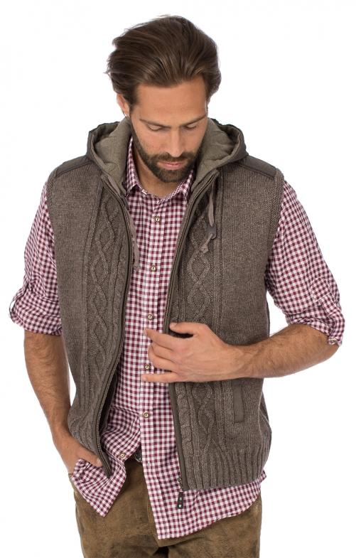 Traditional vest HAINBURG Hoodie brown