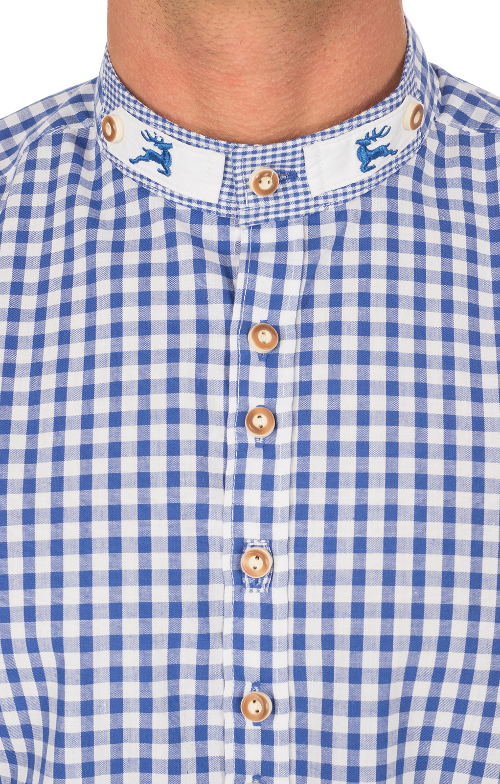 weitere Bilder von German traditional shirt Pfoad blue