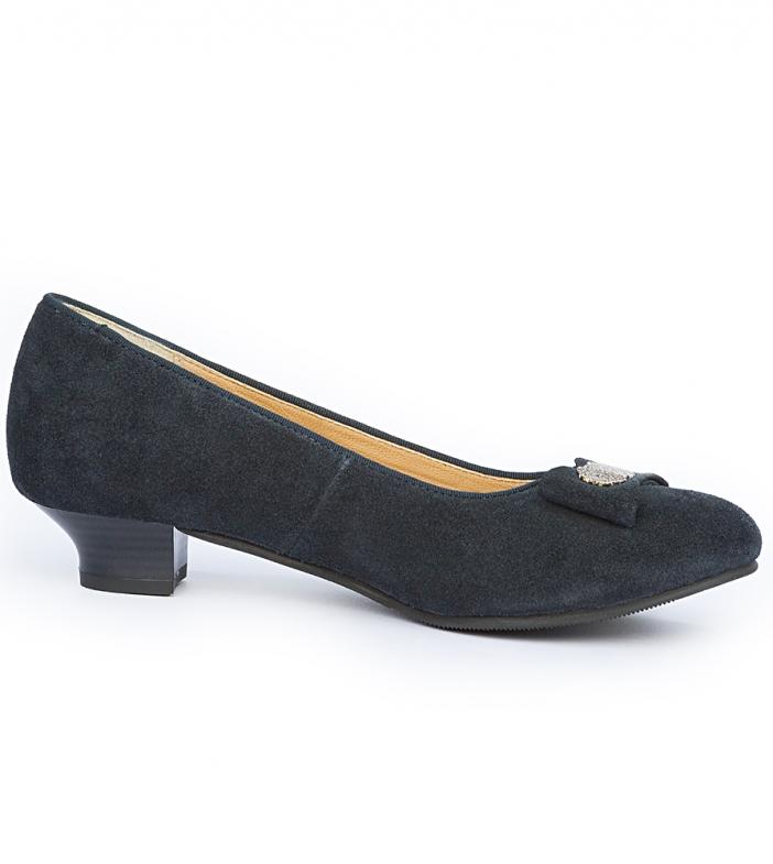 Traditional dirndl shoes D407 Joan blue