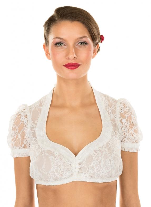 Traditional dirndl blouse BECCA-LAUREN ecru