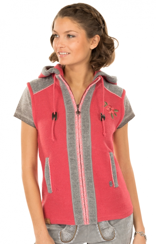 Knitted vest pink