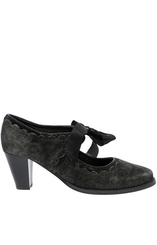Traditional dirndl shoes VICTORIA lava