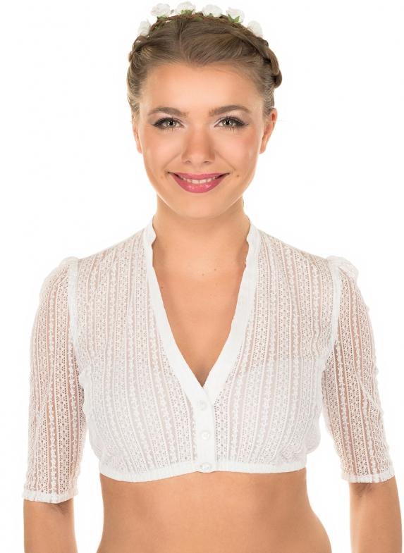 Traditional dirndl blouse EMMA-LINDA white