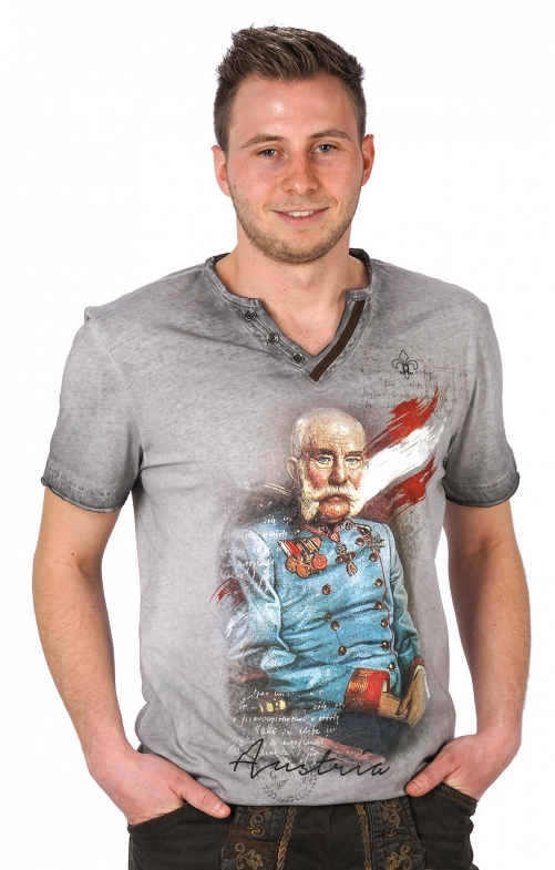 Traditional German T-Shirt Franz gray