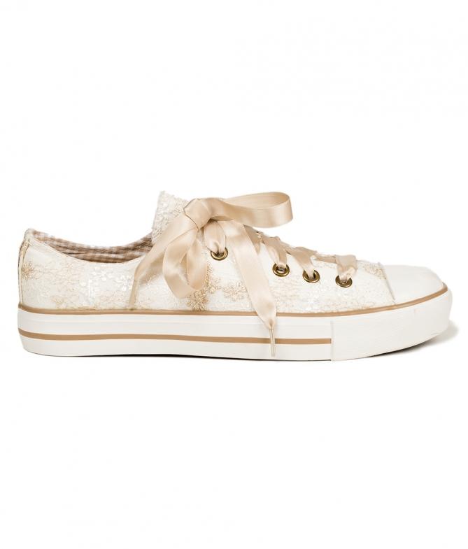 Traditional dirndl shoes 4131-2 ecru