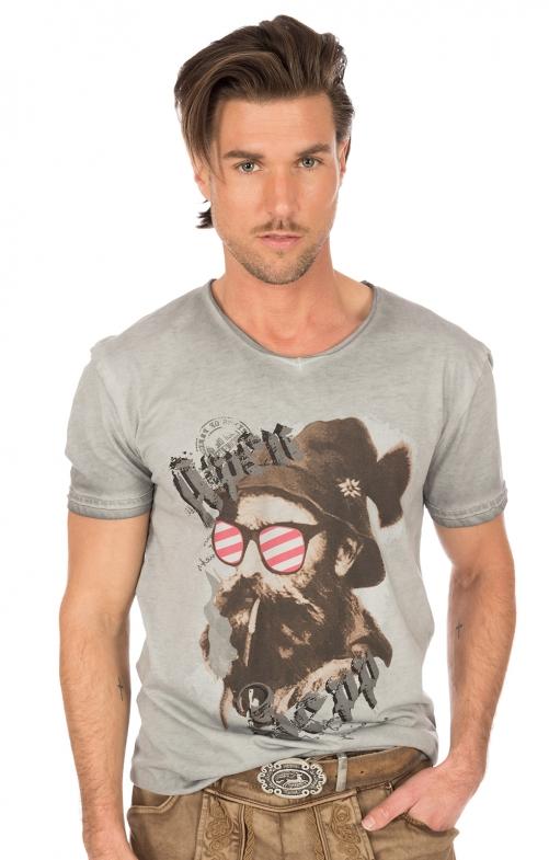 Traditional German T-Shirt BEPPI Austria gray