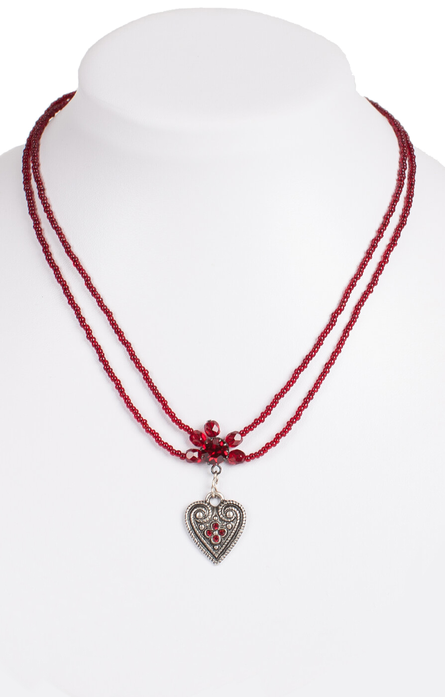 Traditional necklace 13007-2044, red von Schuhmacher