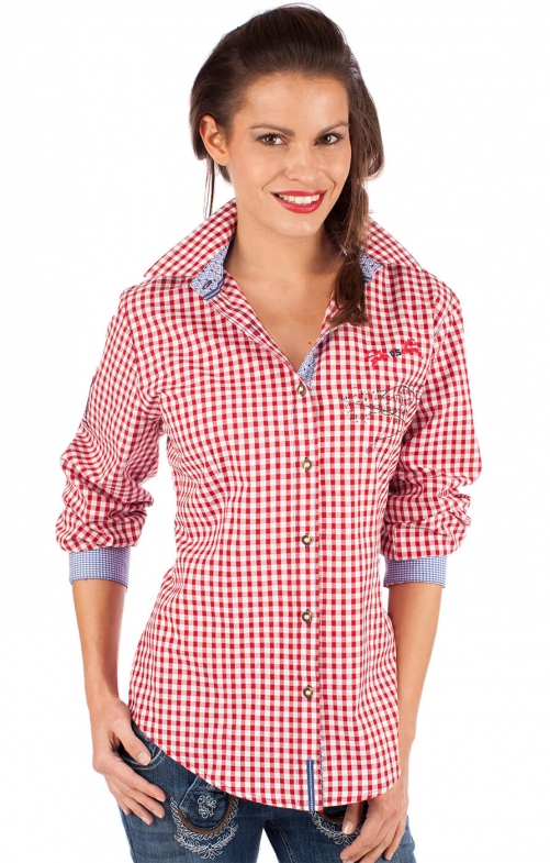 Traditional blouse ILINA red
