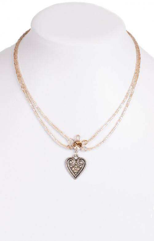 Traditional necklace 13007-2044 beige