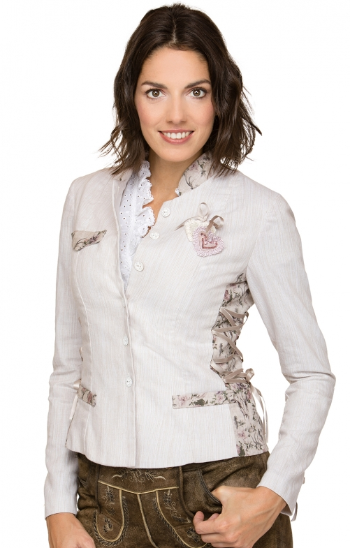 Jacket Elba white creme