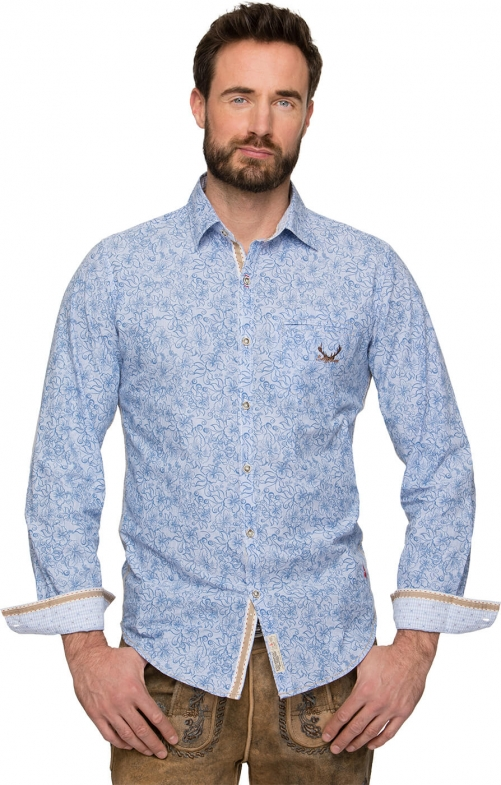 German traditional shirt James blue