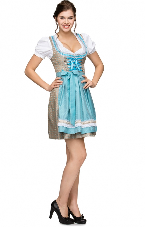 German Mini dirndl 2pcs. Michelle turquoise 55cm